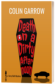Death on a Dirty Afternoon - Colin Garrow - 3D book cover